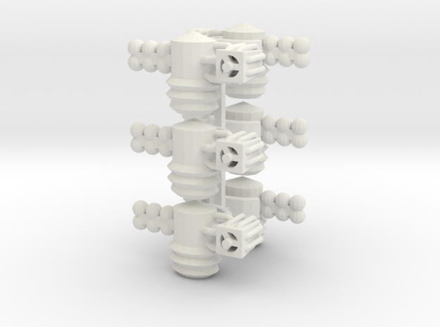 8 Satellite Type 3 x6 in White Strong & Flexible