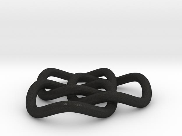 Brunnian Pendant Transparent Detail 3d printed