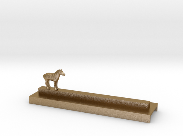 Porte Couteau Cheval Xian in Polished Gold Steel