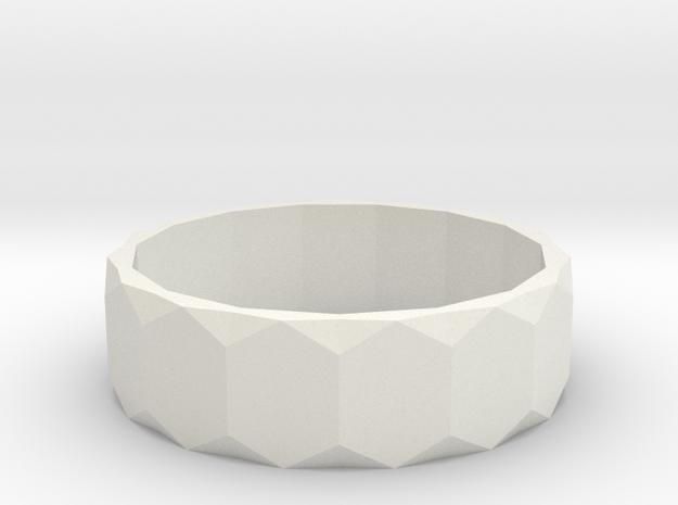 Ring 17 in White Natural Versatile Plastic