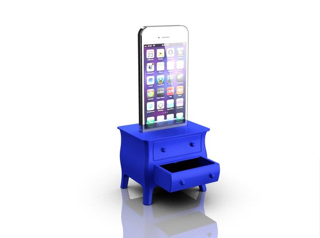 Dresser speaker for iPhone 5s in Blue Processed Versatile Plastic