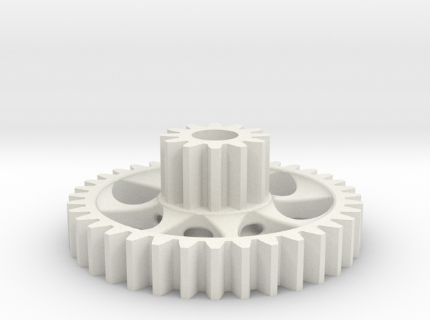 twin spur gear light 3d printed