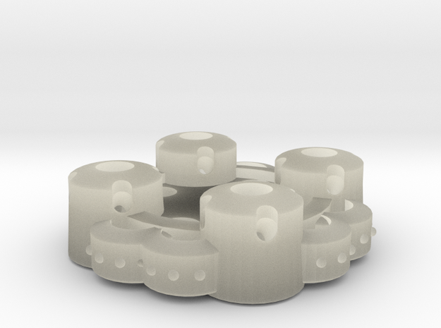 Clover Connector - Ornamental (45 Degrees) in Transparent Acrylic