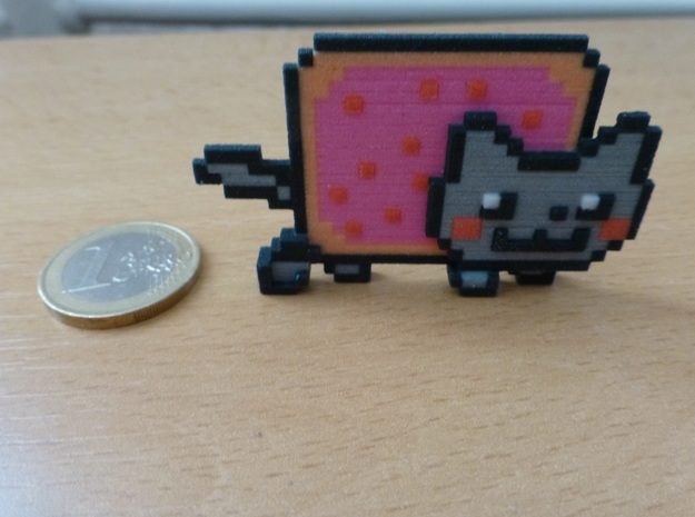 Nyan Cat 3d printed Front view
