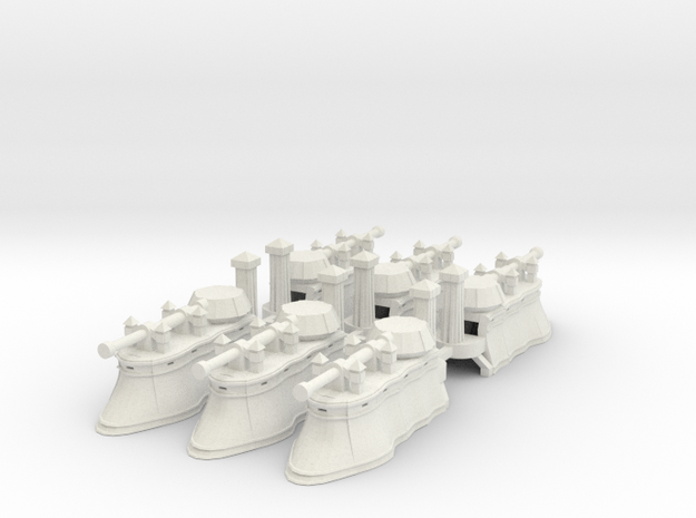 Gothic Hover Tank x6 in White Strong & Flexible