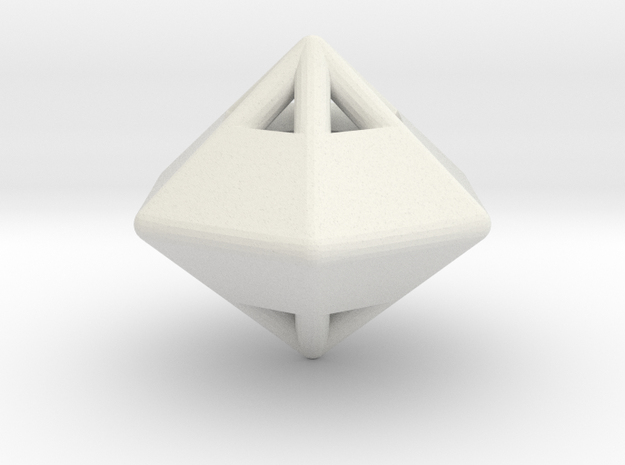d12 die-pyramid blank in White Natural Versatile Plastic