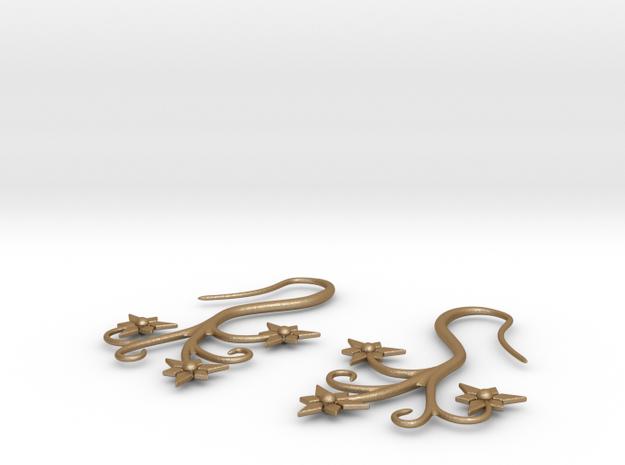 Flora Earrings - Stainless Steel 3d printed
