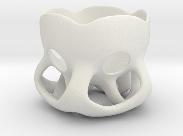 Egg-Cup in White Natural Versatile Plastic