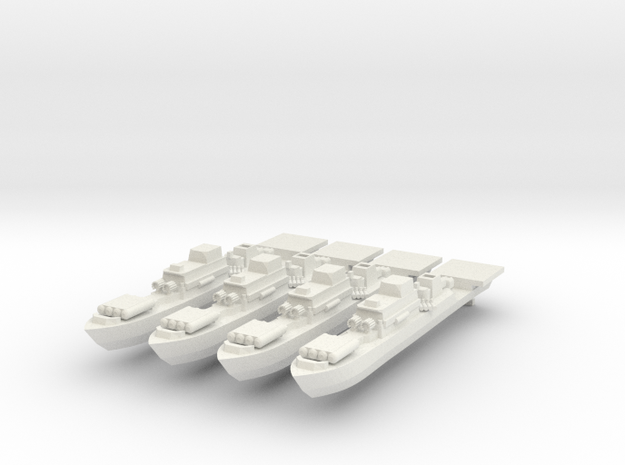 9-Frigate 1:2400 x4 in White Natural Versatile Plastic