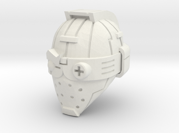robot head in White Natural Versatile Plastic