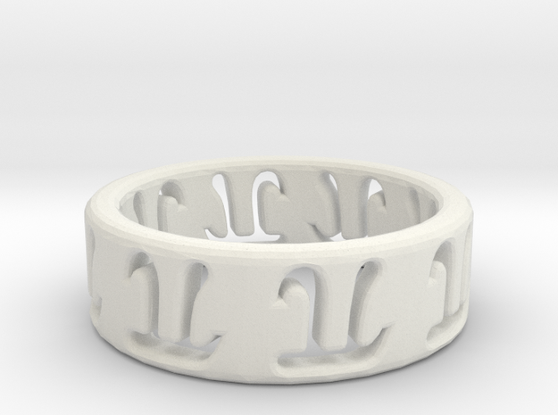 The Ring 2 in White Natural Versatile Plastic