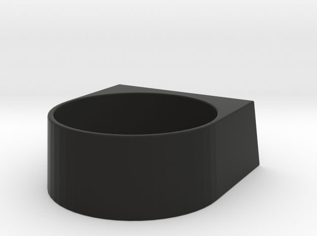 block Ring 20 in Black Natural Versatile Plastic