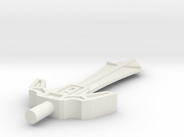 Menacing Blade in White Natural Versatile Plastic