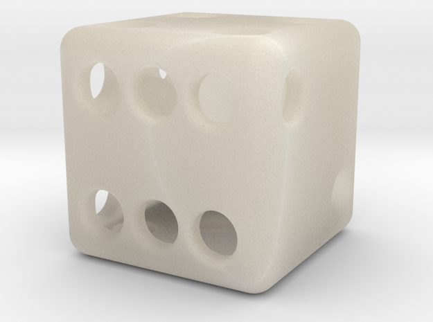 Balanced Hollow Dice (D6) (1.5cm) (Method 1) 3d printed