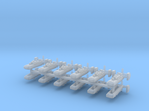 9 Ether Torpedo Boat x12 3d printed