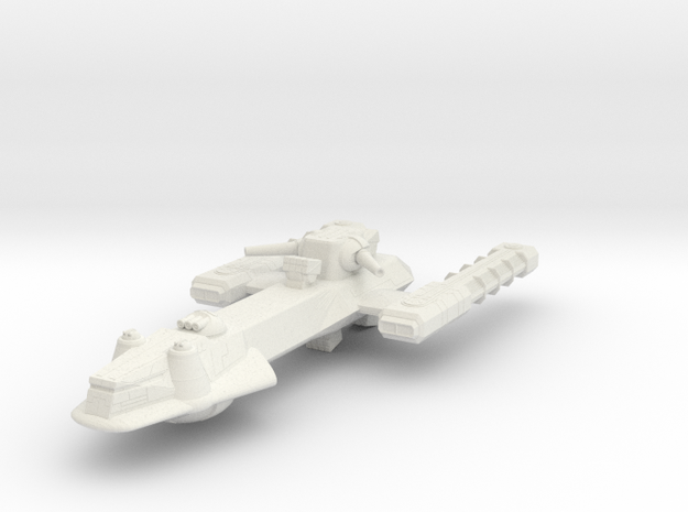 Battle Frontiers Frigate in White Natural Versatile Plastic