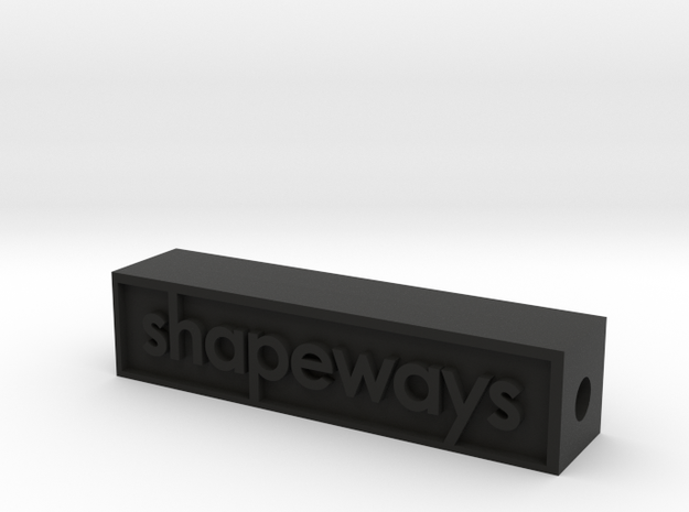 Glass Shapeways Logo 3d printed