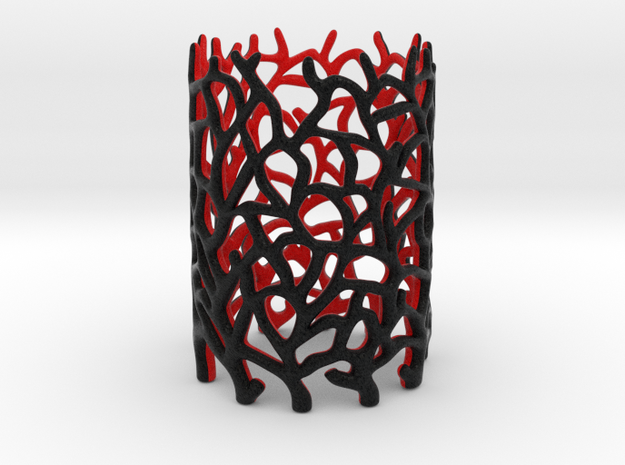 Coraline Tealight 2 Color Sandstone 3d printed