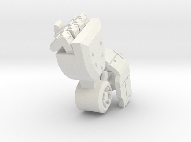 Robot arm 80% pose 3 in White Natural Versatile Plastic