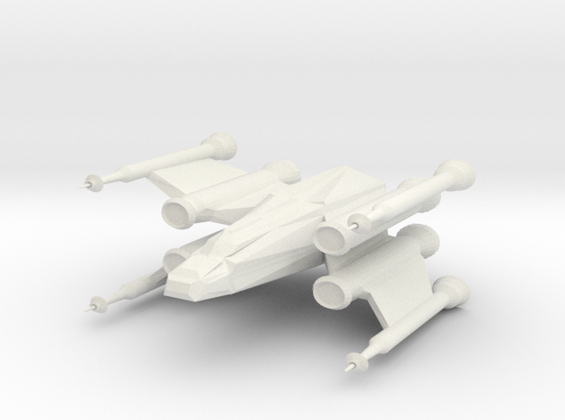 Space Fighter in White Natural Versatile Plastic