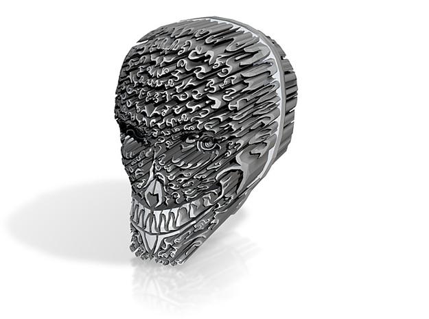 Rune Skull 3d printed