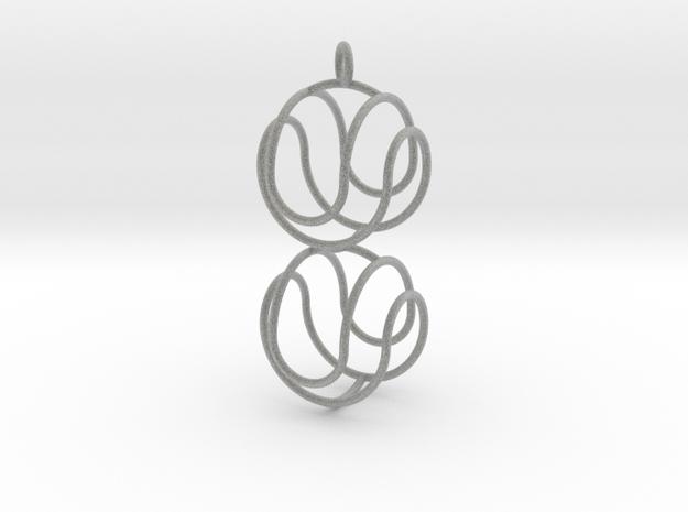 Marble Pendant Upsilon 3d printed