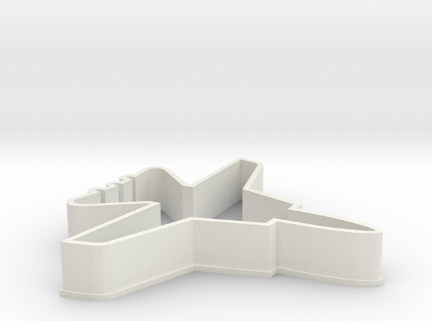 F14 Cookie Cutter in White Natural Versatile Plastic