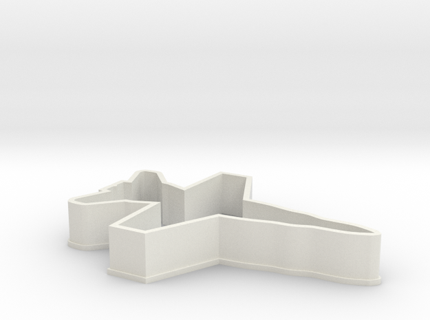 F18 Cookie Cutter in White Natural Versatile Plastic