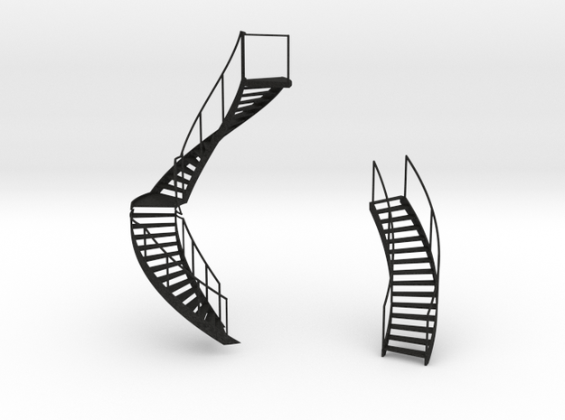Buiten en binnen trappen 3d printed