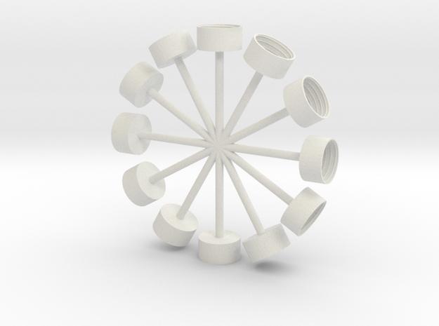 Pop Clocks in White Natural Versatile Plastic
