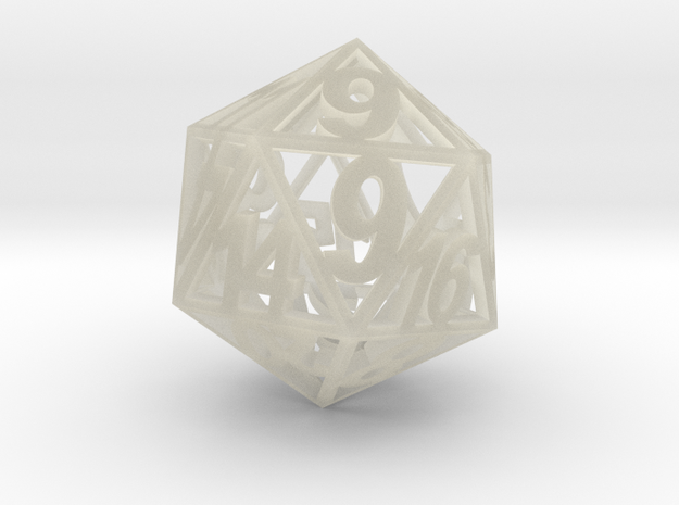 Standard Size D20 in Transparent Acrylic