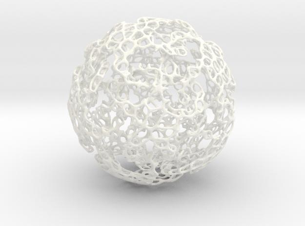 Linked Voroni 3d printed interlinked stars hidden in voroni