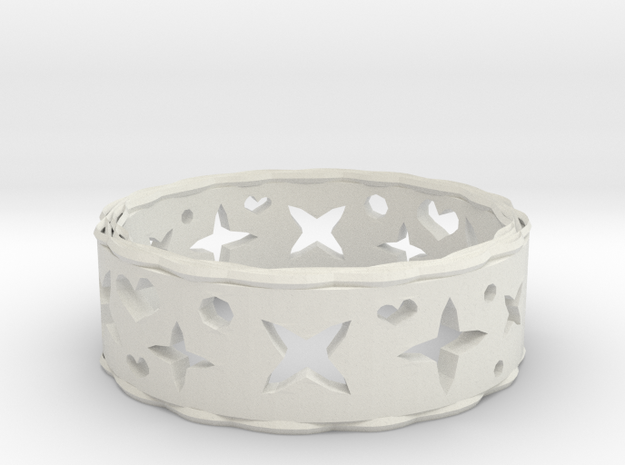 Ring Heart Star in White Strong & Flexible