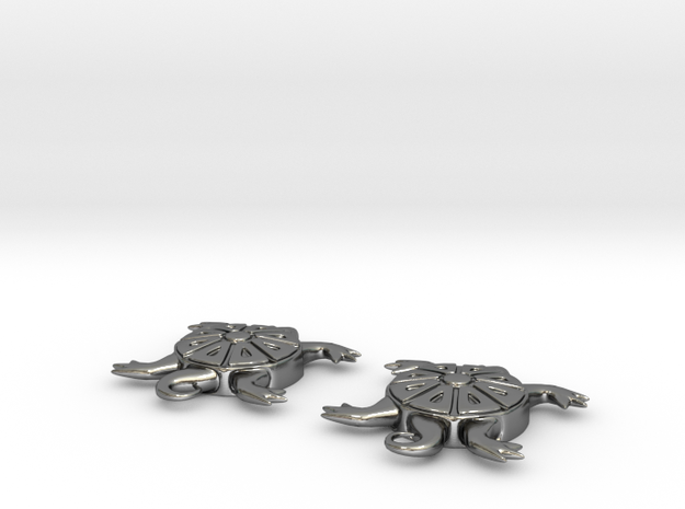 Turtle Earrings 3d printed
