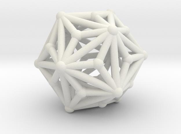 Triakisicosahedron in White Strong & Flexible