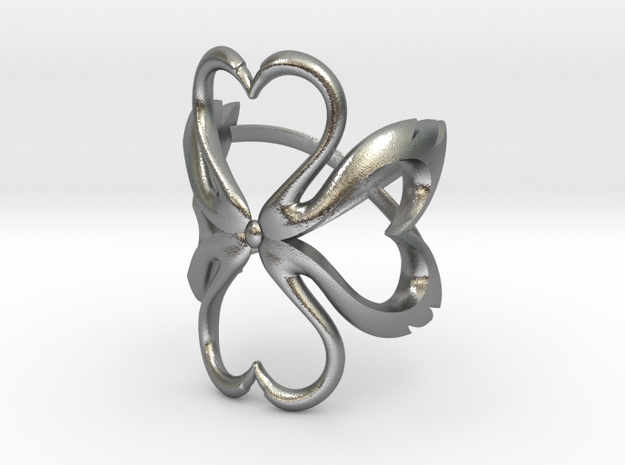 Swan-Heart Ring (small)
