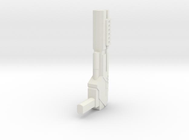 Wreckers gun 02 in White Natural Versatile Plastic