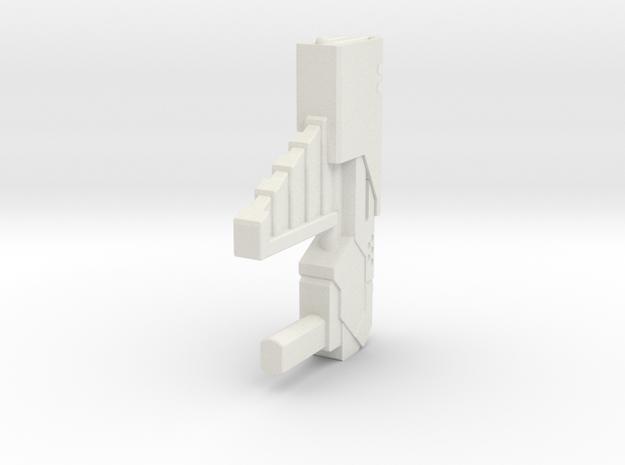 Wreckers gun 04 in White Natural Versatile Plastic