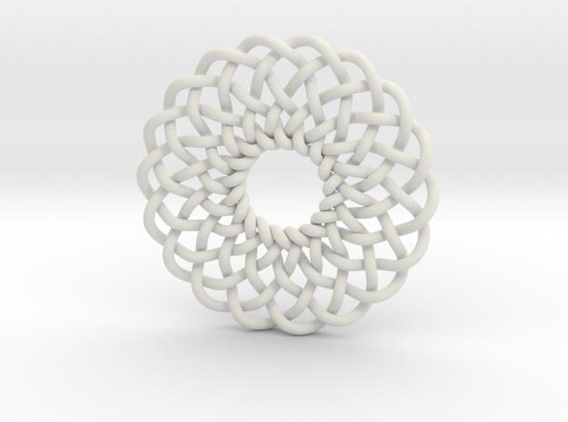 Celtic Knots 02 in White Natural Versatile Plastic