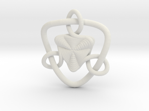 Celtic Knots 09 in White Natural Versatile Plastic