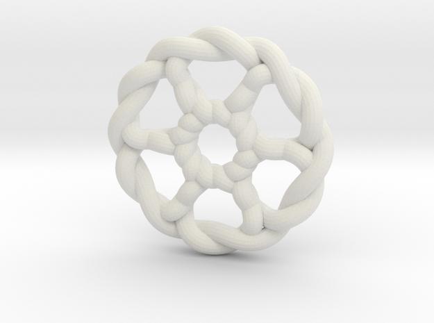 Celtic Knots 07 in White Natural Versatile Plastic