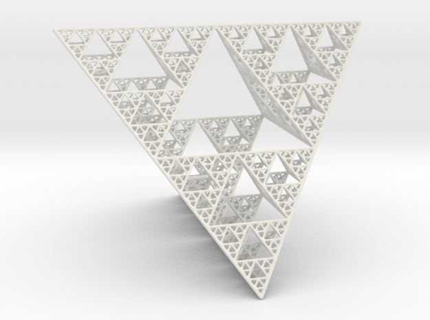 Sierpinski tetrahedron level 5 3d printed