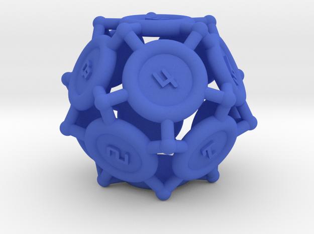"d12 ""Spikes"" in Blue Processed Versatile Plastic"