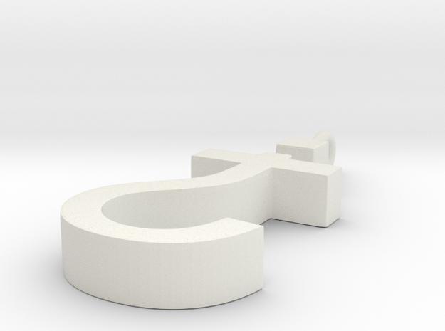 Devout Agnostic in White Natural Versatile Plastic