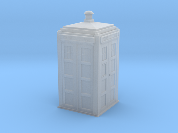 Dr Who's TARDIS (5 cm) in Frosted Ultra Detail