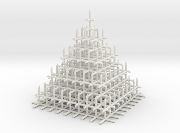 Mesh Pyramid in White Strong & Flexible
