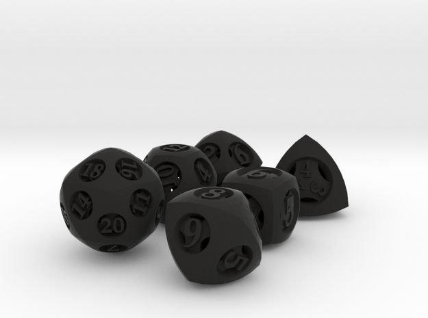 Overstuffed Dice Set 3d printed
