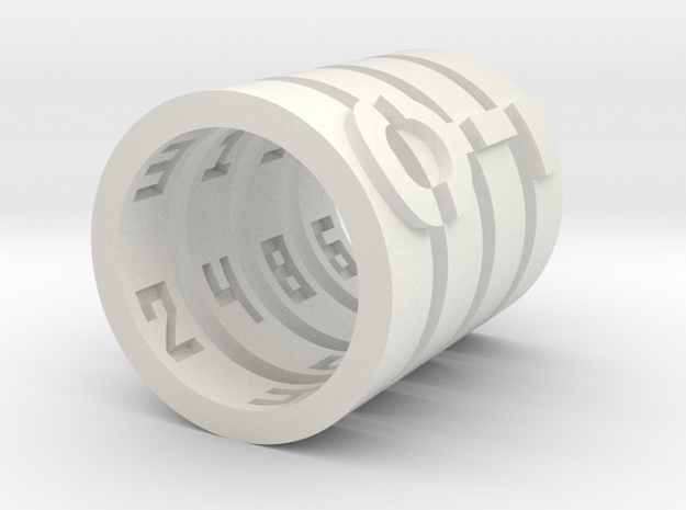 puzzelring met slot en cijfers 3d printed