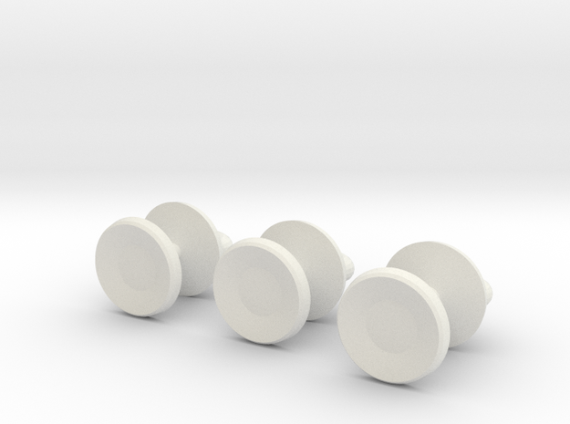 Mazeball Padlock Studs in White Natural Versatile Plastic