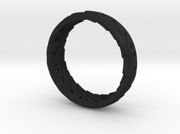 Wave Ring 3d printed